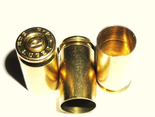 9mm Luger Remington once fired brass reloading cartridge cases Pin polished  (100 CT Bags)