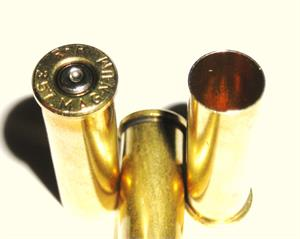 357 Mag Remington once fired brass reloading caridge cases Pin